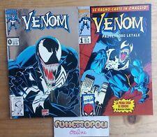 VENOM 0 Platinum Edition + VENOM 1 1994 Marvel Italia Usati Rari OTTIMI