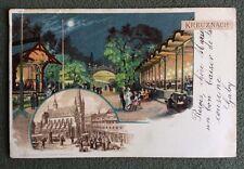 CPA. KREUZNACH. Allemagne. 1900. Égalise. Place. Parc. Fêtes. Nuit. Lune. Mode.