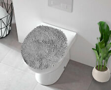 LuxUrux Bath mat-Extra-Soft Plush, Toilet Lid Cover, machine wash & Dry