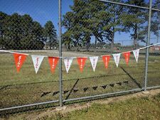 2x Official STIHL LOGO Chainsaw Pennant String Orange White Flag Banner New 24'