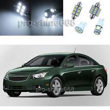 Xenon White LED Interior Lights Package For 2010 - 2014 Chevrolet Cruz 10PCS