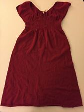ANTHROPOLOGIE MOTH RENDITION SWEATR - DRESS - XSMALL RED