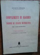 Complementi di algebra e nozioni di analisi matematica - Zwirner - Cedam,1971 -R