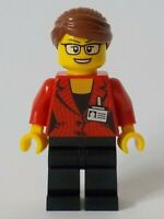 LEGO CITY Reporter Black Legs Reddish Brown Hair NEW original LEGO 60233 cty1045