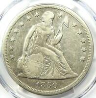 1850-O Seated Liberty Silver Dollar $1 - PCGS XF Details (EF) - Rare Date Coin!