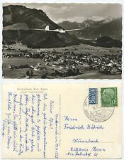 43883 - Segelflugzeug über Unterwössen - Echtfoto - AK, Sonderstempel 19.7.1955