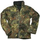 Mil-Tec Softshell Jacket SCU 14 Military Patrol Mens Hooded Coat Flecktarn Camo