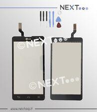 Vetro touch screen per schermo display LG OPTIMUS L9 II nero + kit riparazione