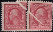 U.S. 332 Pair MASSIVE PAPER FOLD MH (41120)