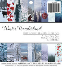 American Crafts Holiday Single Sided Paper Pad Winter Wonderland