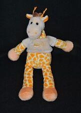 Peluche doudou girafe BABY NAT' jaune orange pull beige 28 cm NEUF