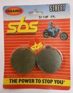 SBS FRONT CERAMIC BRAKE PADS SUZUKI 77-78 GS400 78-80 GS425 77-80 GS750 511HF 79