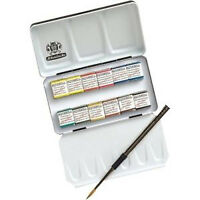 Schmincke Horadam Artists Watercolour 12 Half Pan Metal Box Set - 74012097