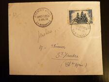 FRANCE PREMIER JOUR FDC YVERT 1035  BATEAU LA CAPRICIEUSE  30F  LA ROCHELLE 1955