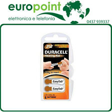 6 x Batterie Duracell 312 pile per apparecchi acustici protesi acustiche