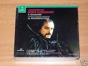 CD - MUSSORGSKY -BORIS GODUNOV-RAIMONDI-ROSTROPOVITCH