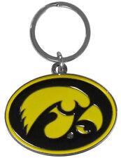 Iowa Hawkeyes Cut-Out Logo Keychain [NEW] NCAA Chrome Car Key Chain CDG