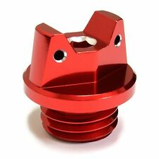 MotoSculpt Oil Fill Cap Plug for Kawasaki KX125 KX250 KX500 - RED