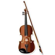 "Violin musical instrument band bumper sticker 3"" x 6"""