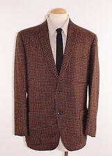 Vintage 50's Men's Rockabilly Red Black Houndstooth Wool Sport Coat Jacket 42 R