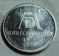 SONDERMÜNZE 5,- DM - 1971 D: 500. GEBURTSTAG VON ALBRECHT DÜRER- vz / xf