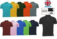 Mens Lightweight Pique Polo T Shirts Size S to 2XL SPORTS & CASUAL -
