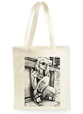 Blondie tattoo girl poster cool shopping toile sac fourre-tout idéal cadeau