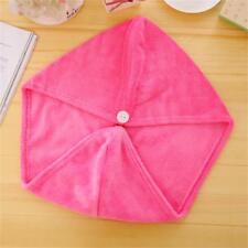 Spa Bath Quick Drying Microfiber Hair Towel Wrapped Turban Turbie Twist Hat Caps Rose Red