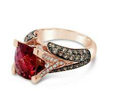 Levian ® Anillo Rodolita Diamante Vainilla Chocolate diamantes ® ® ® oro 14K Fresa