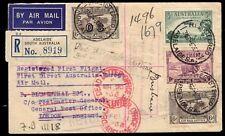 "AUSTRALIA - 1934/35 Registered First Flight Air Mail ""Dead Letter Office"" Cover"