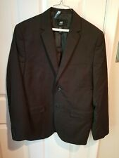 Mens H&M Black Blazer suit jacket 44R Regular Fit