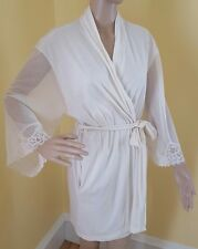 Bella Donna Intima Medium Ivory Robe Lace Bridal Lingerie Night Off White Short