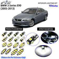 18 Bulbs LED Interior Dome Light Kit For 2005-2013 BMW 3 Series E90 Xenon White
