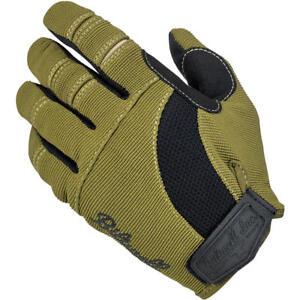 Biltwell Moto Motorcycle Gloves - Olive / Black - Choose Your Size