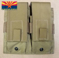 USMC DOUBLE MAG POUCH COYOTE TAN HOLDS TWO (2) USGI 30-RD MAGS NEW+FREE SHIPPING