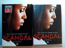 Scandal: The Complete Third Season 3 (4-DVD Set) NEW! Kerry Washington -Region 1