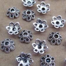 100pc Tibetan Silver Flower Bead Caps Accessories Jewellery Making 6*6mm B749B