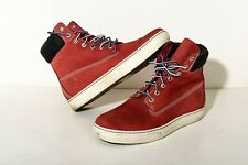 Timberland Men Boots Size 9 (Red Nubuck)