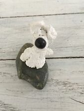 Hand Sculpted Up North Rock Dog from Northern Michigan White