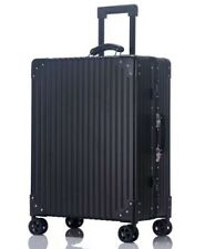 "WOW!20"" All Aluminum Magnesium Alloy Trolley Suitcase 4 Wheel Spinner TSA Lock"