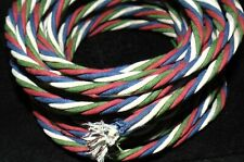 NOS CANDY CANE WESTERN ELECTRIC CLOTH WIRE 4X 16 GAUGE RED GREEN BLUE STRANDED