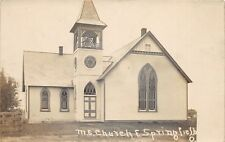 E87/ East Springfield Ohio RPPC Postcard Jefferson Co c1910 M.E. Church