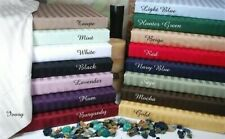 Box Pleat Bed Skirt King Select Drop Length All Stripe Color 1000TC Egypt Cotton