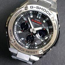 CASIO G-SHOCK G-STEEL, GSTS110D-1A GST-S110D-1A, SOLAR, STEEL BEZEL BAND