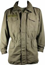 Used Austrian Army Olive M65 Goretex Waterproof Jacket, 36 inch Chest
