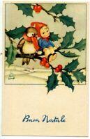 Complete set of 6 vintage postcards Childrens Xmas PC Circa 1940 ITALY