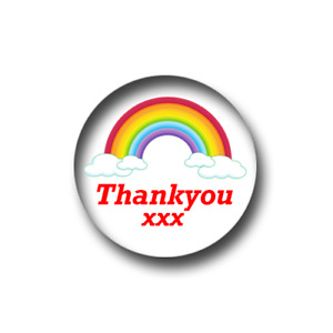 100 x NHS Rainbow Thank You PIN BADGES (1 inch / 25mm)