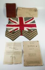 """More details for wwii: pay book , soldier's releases book class """"a"""" , atp sargent stripes, badges"""