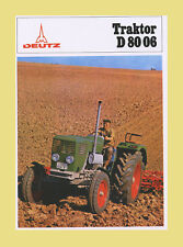 DEUTZ D 80 06 Alllrad 80 PS Schlepper Traktor