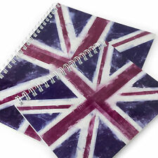 Monster Stationery - Flag A4 & A5 Lined Notebooks - Made in UK - Union Jack